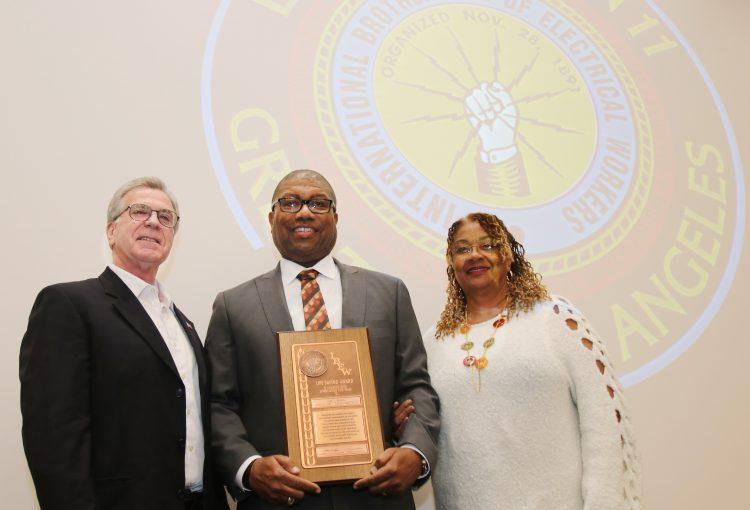 IBEW Recognizes Eric Brown for Life Saving Heroics