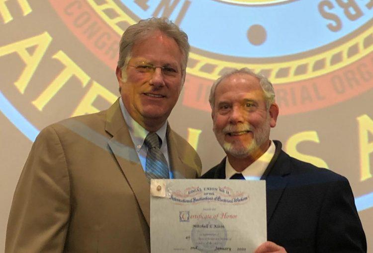 Mitch Klein Receives 40-year Pin!