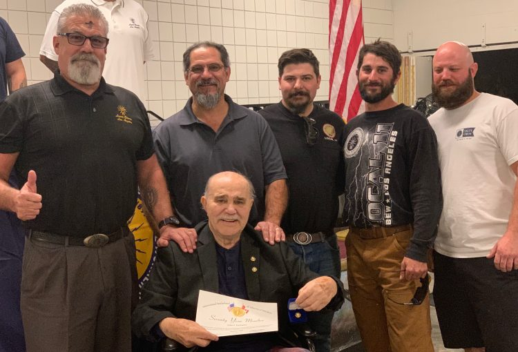 Brother Parlopino Receives 70-Year Pin