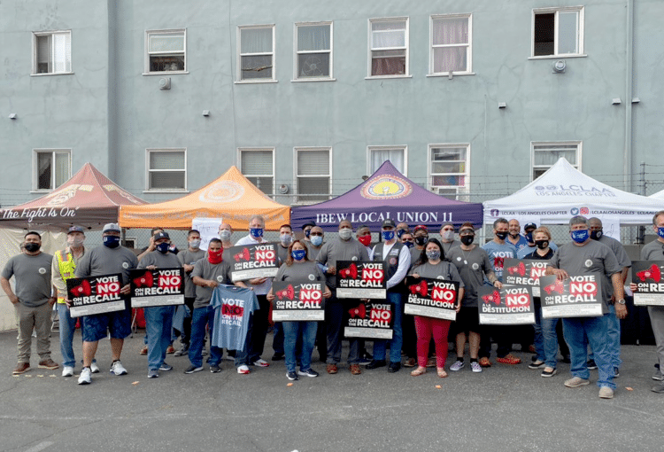 """Local 11 Turns Out for """"No on Recall"""" Kickoff"""