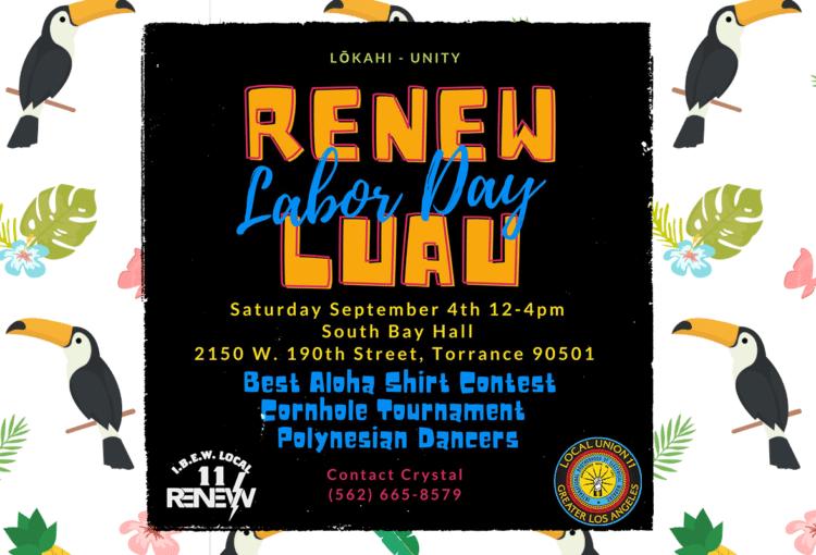 Renew Labor Day Luau